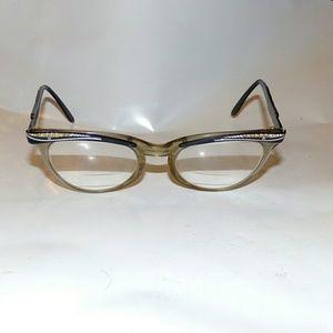 Vtg Shuron women cats eyeglasses rhinestone rock